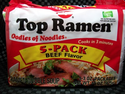 RARE 5pk NISSIN TOP RAMEN BEEF NOODLE SOUP FOOD MEAL