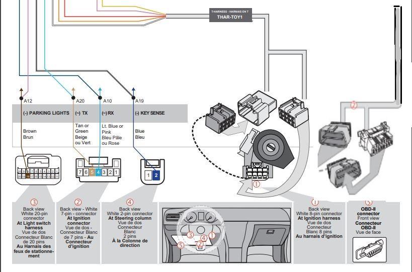 Plug & Play Remote Start 2009-2010 Toyota COROLLA DOT KEY