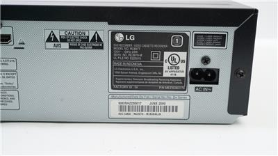 LG RC897T Multi-Format DVD Recorder and VCR Combo with