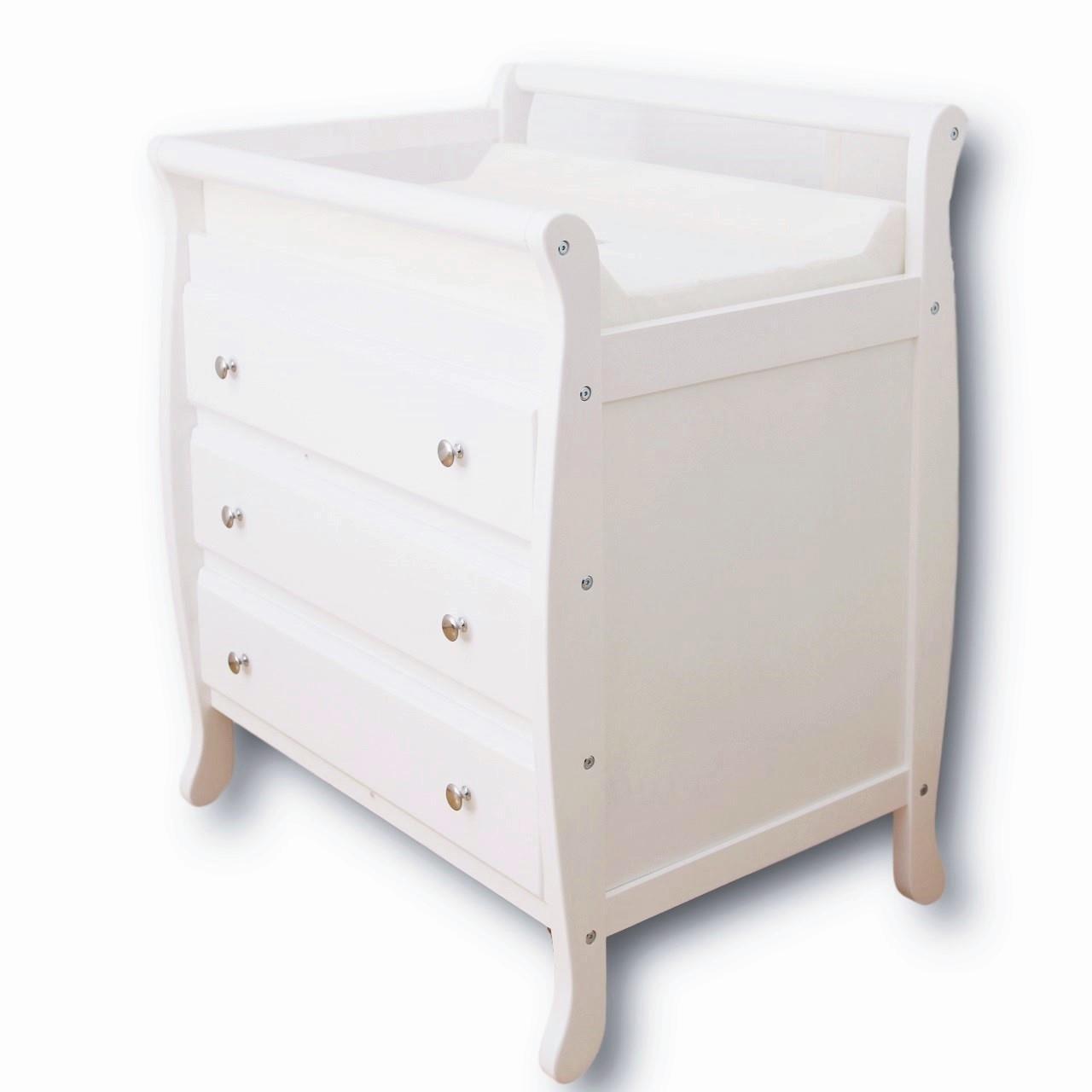 3 DRAWER WHITE Baby Change Table Chest Dresser Cabinet Changer Nursery