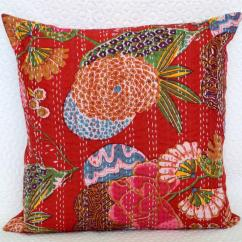 Cotton Sofa Covers India Cheap Uk As Many 16 Quot Kantha Cushion Cover Indian Handmade