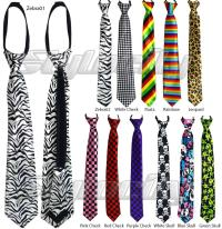 KIDS NECK TIE Zipper Adjustable School Wedding Black ...