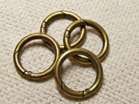 "Small 1"" Carabiner Rings For Miche Bags; 3 Metal Colors"