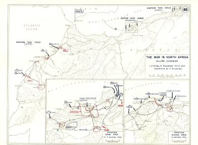 WW2 North Africa 8 Military Maneuver Maps Tunis Morocco