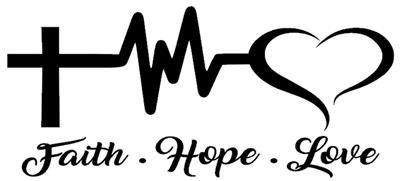 FAITH HOPE LOVE STICKER Funny Caravan Swift Bailey 4x4 CAR