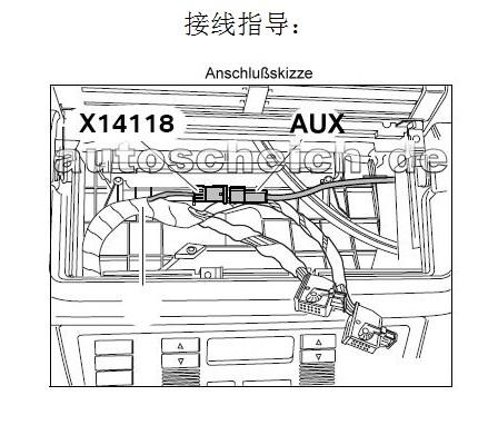 AUX Audio Input Adapter Female 3 pin Cable For BMW E39 E53
