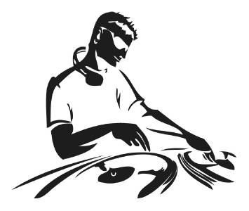 DJ Decal LAPTOP / MACBOOK Mac Pro Air Sticker Apple Shirt