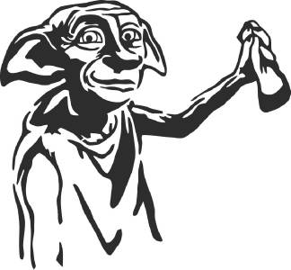DOBBY Harry potter Decal LAPTOP MACBOOK Mac Pro Air