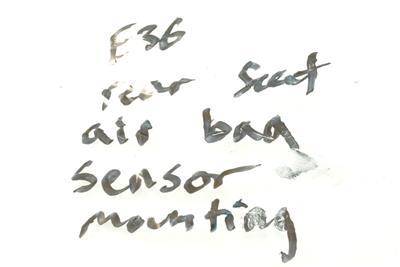OEM BMW E36 Rear Seat Airbag Sensor Mounting Nuts 92-99