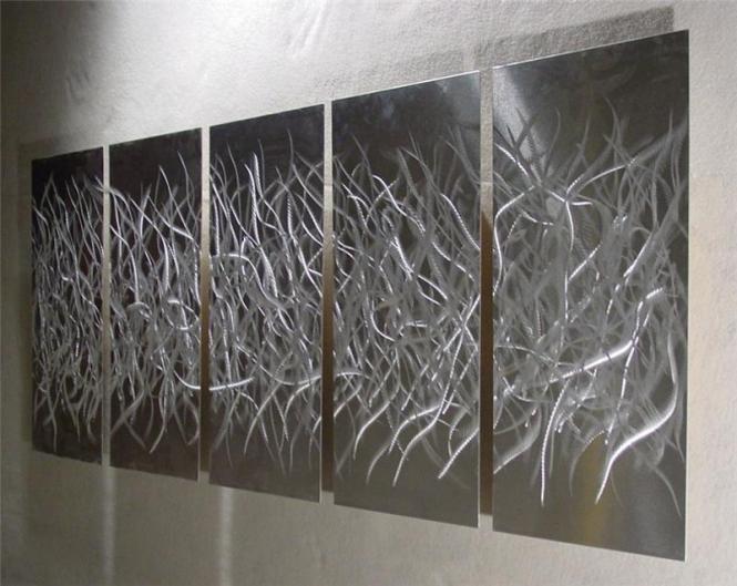 Wall Art Designs Silver Metal Black Decor Uk