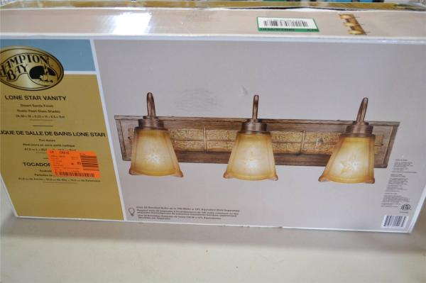 Hampton Bay 886889 Lone Star 3 Light Vanity Fixture