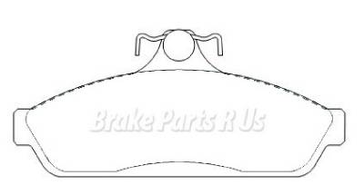 Disc Brake Pads Front DB1085 FOR Holden Commodore VP VL VK
