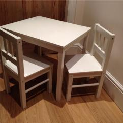 Ikea Wood Chairs Chair Cover Rentals Niagara Childrens White Wooden Table And Pick Near