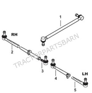 FORD NEW HOLLAND NEW TIE RODS DRAG LINKS 5600 7600 5610
