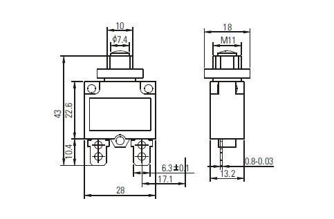 2pcs CHHET HT-01A-101 10A Circuit Breaker Current Overload