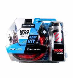 scosche kpca4c 1600 w 4 gauge car amplifier wiring install kit w 0 05f stif cap [ 1024 x 1024 Pixel ]