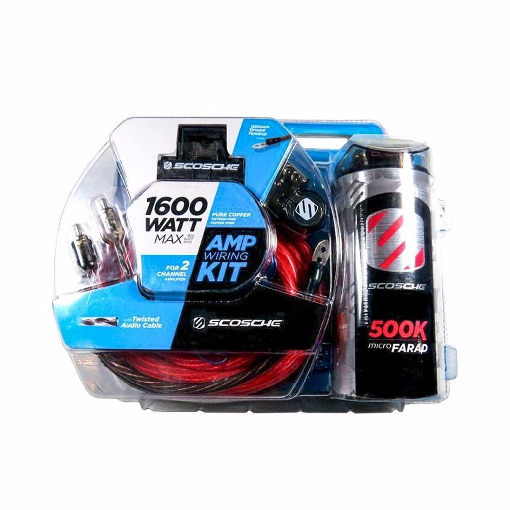 hight resolution of scosche kpca4c 1600 w 4 gauge car amplifier wiring install kit w 0 05f stif cap