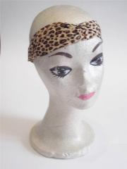 animal print headband soft satin