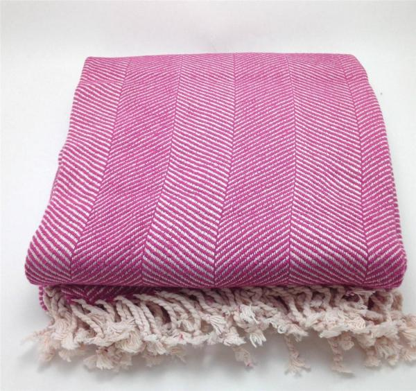 Organic Cotton Herringbone Throw Blanket Pure Fiber Soft Warm Couch Bed Eco