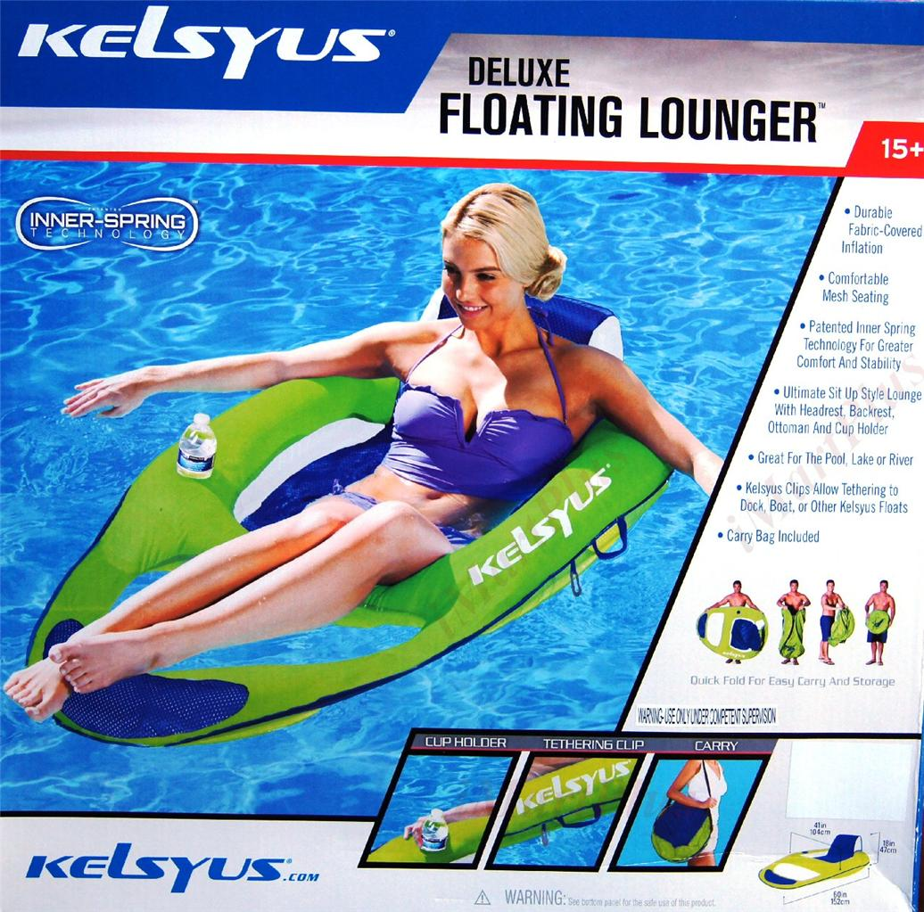Pool Float Chair Kelsyus Deluxe Floating Extra Large Lounger Swimming