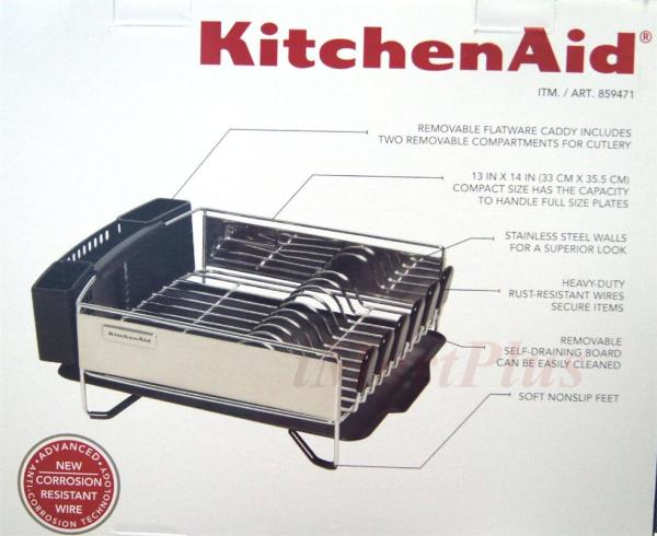 Kitchen Aid Kitchenaid 3 Pc Dish Cup Holder Plate Drying