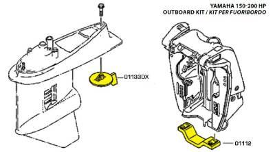 Yamaha Mariner Outboard Anode Kit 150-200 HP Engine Marine