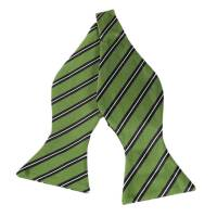 Green & White Striped Bow Ties | Striped Bow Tie ...
