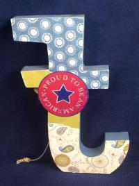 Wooden Letters and Numbers, Wall Decor Art Crafts, Large
