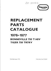 TRIUMPH Replacement Parts 1976-77 BONNEVILLE & TIGER 750