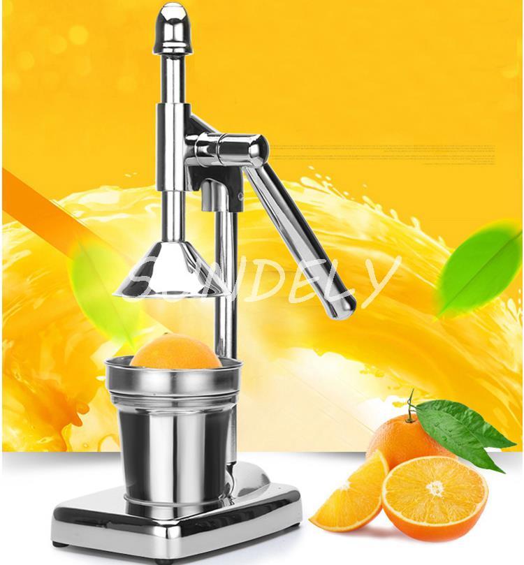 Orange Hand Press Commercial Pro Manual Citrus Fruit Lemon
