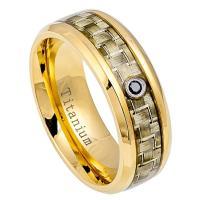 NEW Titanium Mens Diamond Wedding Band Comfort Fit Promise ...
