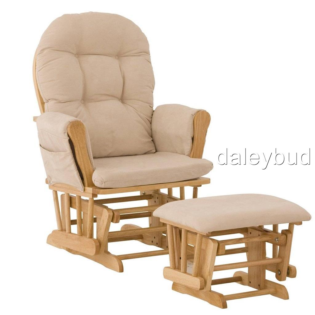 Baby Rocker Chair Stork Craft Hoop Glider Ottoman Set Beige Baby Rocking