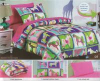 Patriotic Cotton Bedspread Quilt Set &Shams King Queen Bed ...