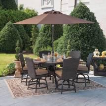 Outdoor Furniture Patio Dining Set Wicker Rattan 7pc