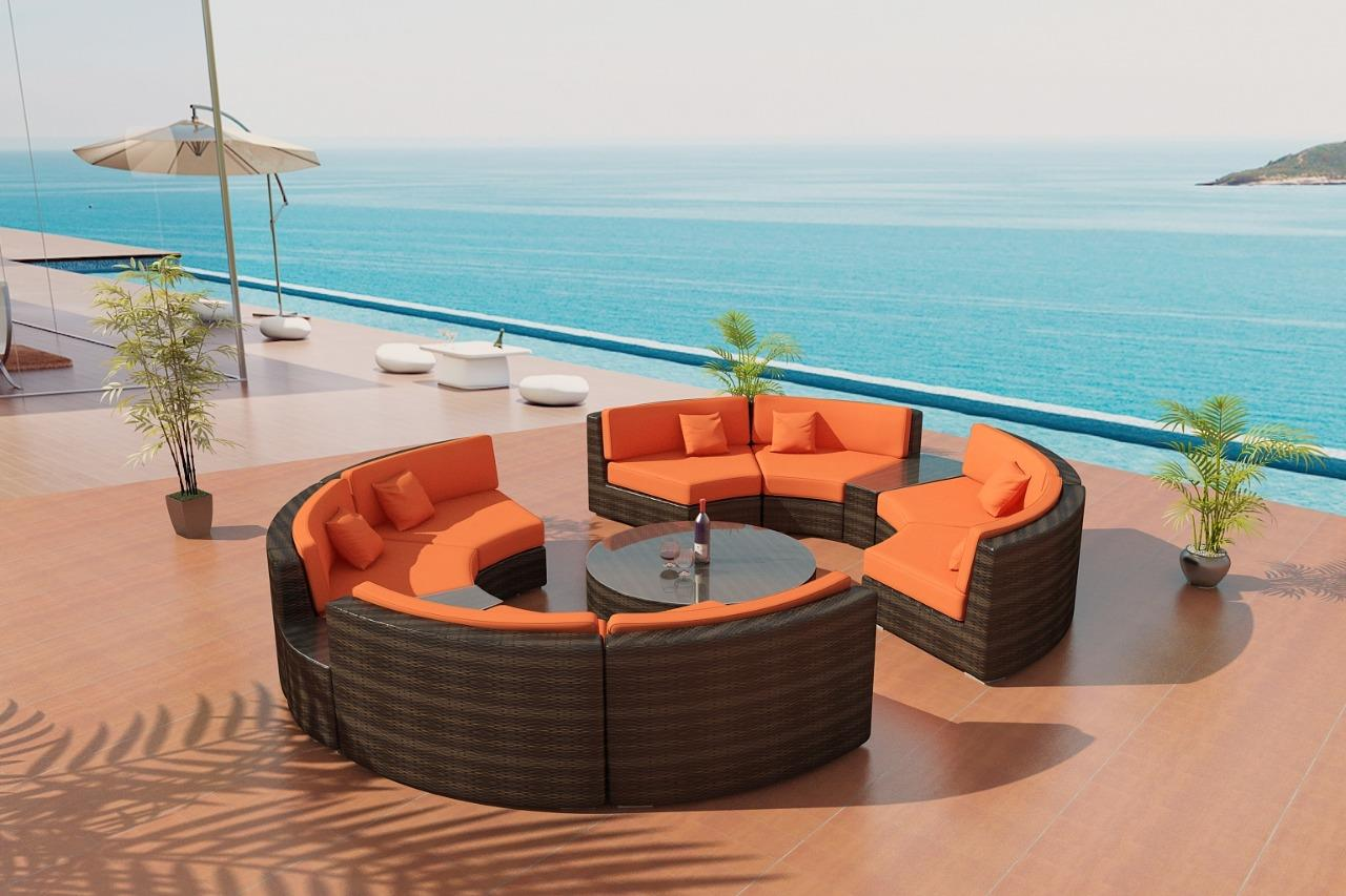 Orbit Outdoor Wicker Sectional Patio Furniture Viro