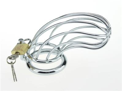 Dungeon Lock Male Men's Cuckold Penis Lockdown Steel Bird