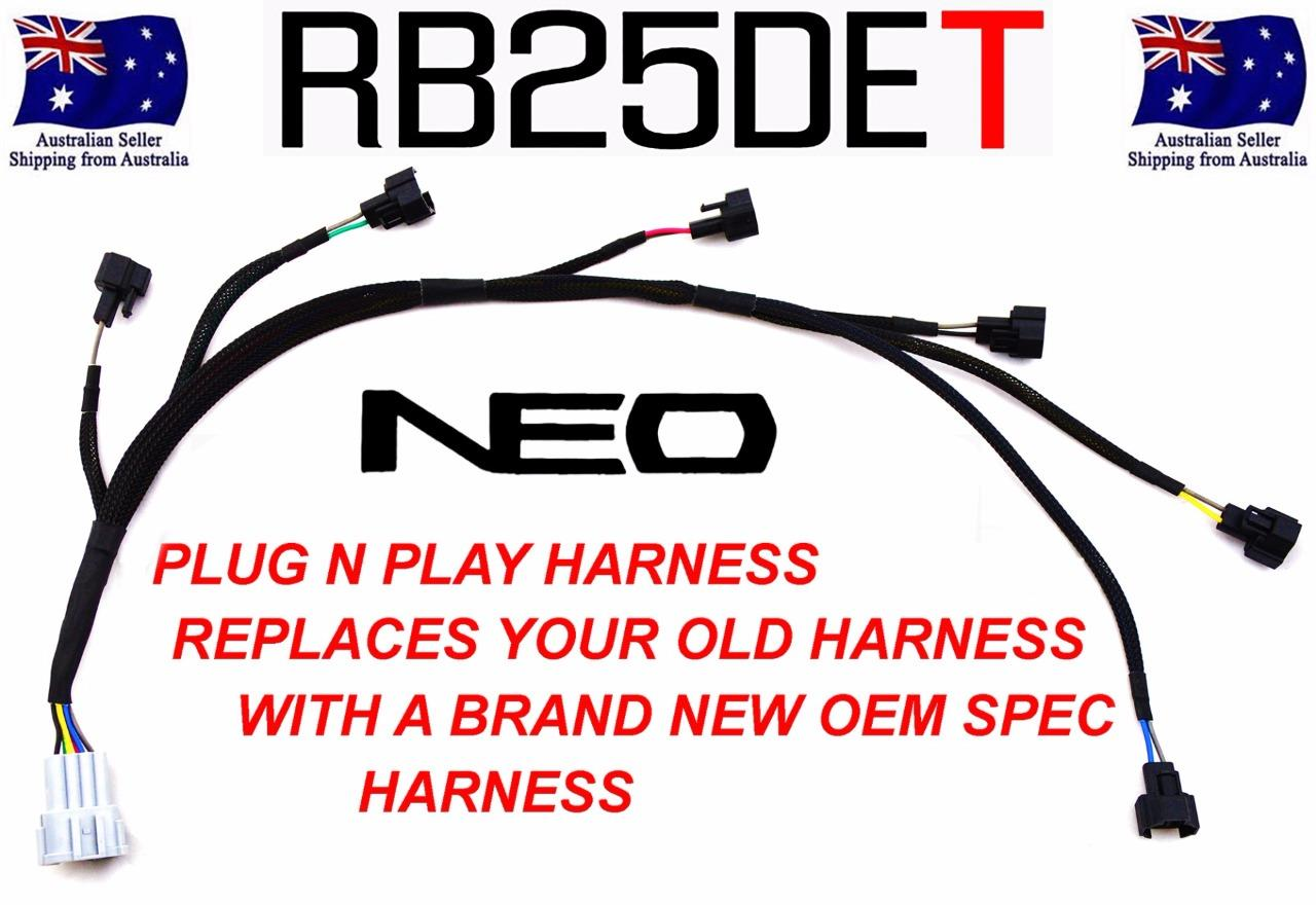 rb25 neo colour wiring diagram kenwood radio rb25det injector sub harness upgrade skyline r33 gtst
