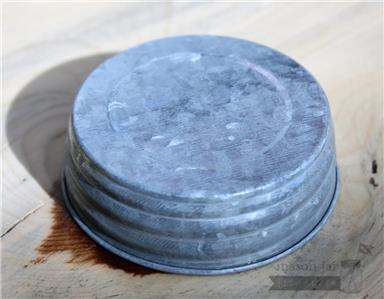 4 Pack! Galvanized Vintage Reproduction Lids for Regular
