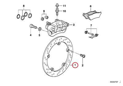 1994-2007 BMW R SERIES REAR BRAKE DISC- 50% OFF CLEARANCE