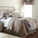 Donna Sharp Smoky Square Quilted Farmhouse Rustic Country Twin Quilt Throw Ebay