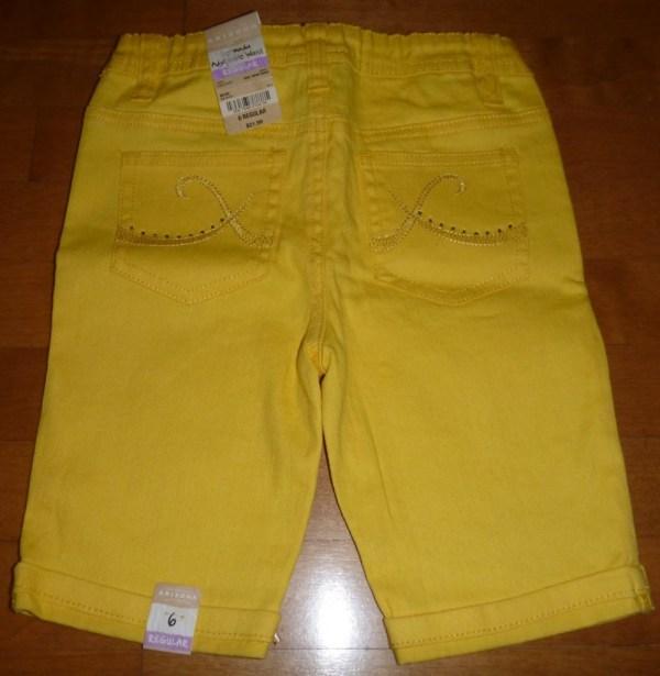 Girls Adjustable Waist Jean Bermuda Shorts Size 6 6x Slim Denim Hot Pink Nwt