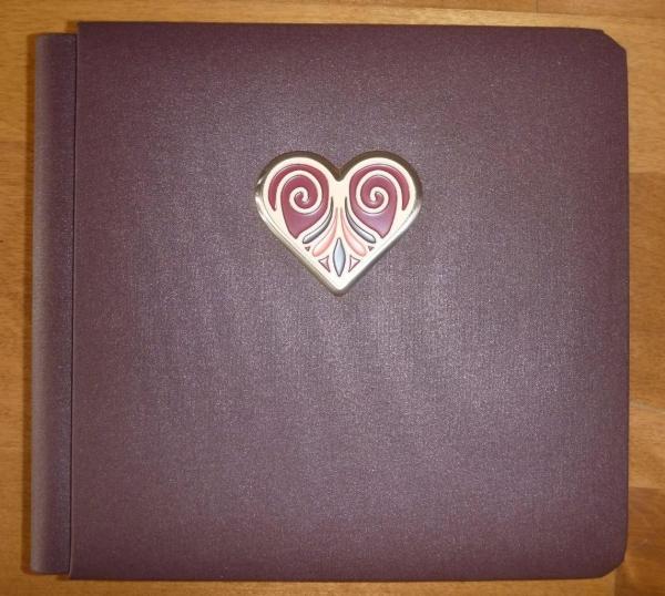 Creative Memories Amore 7x7 Brown Enamel Heart