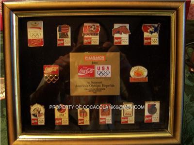 Limited Rare Coca Cola 1992 OLYMPIC Coke Pin Set Frame EBay