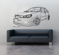 Wall Art sticker decal vinyl 0120 Subaru Impreza, Sports ...