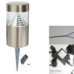 12 Volt Wiring Diagram For Garden Lights 98 Ford F150 Starter Stainless Steel Outdoor Light Spike V 30