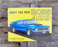 Ford Mustang Boss 429 Tin Sign Retro Old Style Car Ad Auto ...