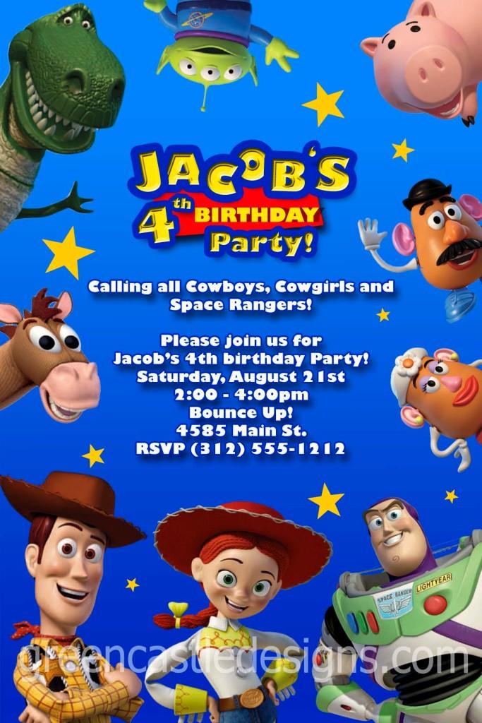 Toy Story Invitation Custom Personalized Birthday Party