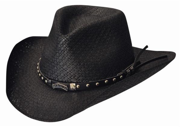 Jack Daniel' Toyo Straw Shapeable Western Cowboy Hat