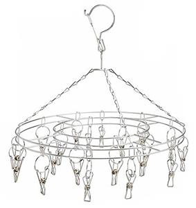 ROUND HANGING WIRE DISPLAY RACK 16 METAL CLIP ONS flags