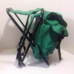 Fishing Chair Backpack High Clearance Deluxe Camp Stool Combination Green Black
